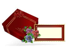 Fancy present box, cdr vector Royalty Free Stock Photos