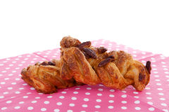 Fancy puff pastry with nuts Stock Image