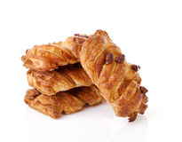 Fancy puff pastry with nuts royalty free stock photo