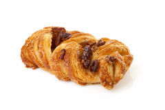 Fancy puff pastry with nuts Royalty Free Stock Photography