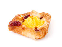 Fancy puff pastry with pudding and jam Stock Photos