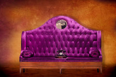 Fancy Purple Seat Stock Photography