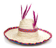 Fancy Rattan Hat Royalty Free Stock Photos
