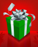 Fancy Red Christmas Present Stock Images