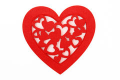 Fancy Red Heart on white background. Fancy Red Heart isolated on white background Royalty Free Stock Photos