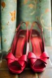 Fancy red high heels Stock Image