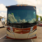 A fancy rv at camping world, fort myers Royalty Free Stock Photography