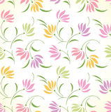 Fancy seamless floral background Stock Photo