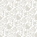 Fancy seamless floral background with paisley stock illustration