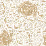 Fancy seamless floral wallpaper stock illustration