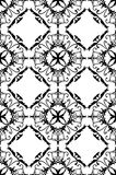 Fancy seamless wallpaper. Black on white repeating filligree damask pattern for wallpaper, background, wrapping paper, textiles or tiles vector illustration