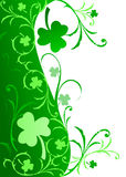 Fancy Shamrock Border Royalty Free Stock Image