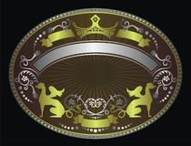 Fancy shield background Stock Images