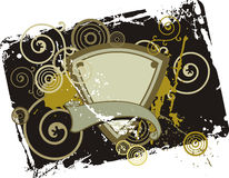 Fancy shield background Royalty Free Stock Photo