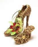 Fancy shoes made from cones Royalty Free Stock Image