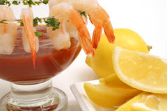 Fancy Shrimp Cocktail Stock Image