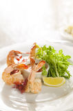 Fancy shrimp cocktail appetizer. Royalty Free Stock Photography