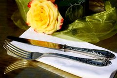 Fancy silverware Royalty Free Stock Photo