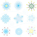 Fancy Snowflakes Royalty Free Stock Photo