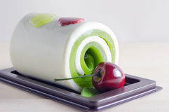 Fancy soap in cake form with cherry Royalty Free Stock Photos
