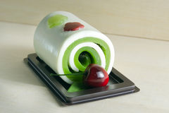 Fancy soap in cake form with cherry Stock Images