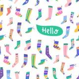 Fancy socks colorful greeting card royalty free illustration