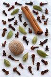 Fancy spices on carrara marble Stock Photos