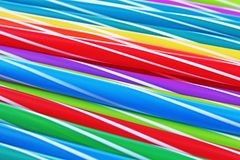 Fancy straw art background. Abstract wallpaper of colored fancy straws. Rainbow colored colorful pattern texture. royalty free stock images