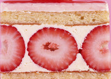 Fancy strawberry Pastry royalty free stock photos