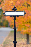 Fancy Street Sign Royalty Free Stock Photography