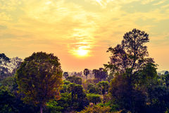 Fancy sunset in Angkor, Cambodia Stock Image
