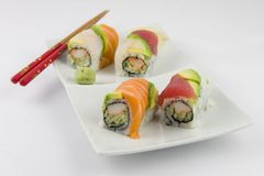 Fancy Sushi Roll Stock Photography