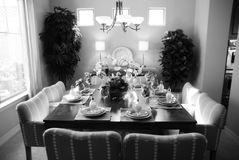 Fancy table set. For a wedding dinner Royalty Free Stock Photos