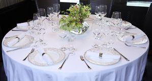Fancy table set for a dinner royalty free stock photography
