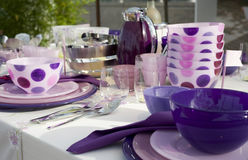 Fancy table set for a dinner royalty free stock photo
