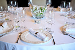 Fancy table set for a dinner Stock Images