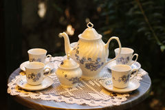 Fancy tea table Stock Photo