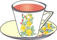 FANCY TEACUP Stock Photo
