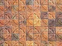 Fancy tiles. Ornate pottery tiles Stock Image
