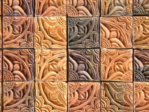 Fancy tiles close-up Stock Photography