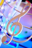 Fancy treble clef Royalty Free Stock Photos