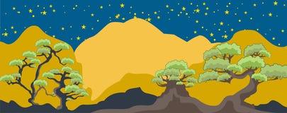 Fancy Tree Nightscape Background Stock Photos