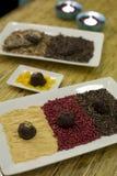 Fancy truffles Stock Image