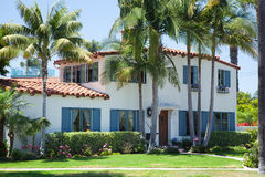 Fancy vacation house - Coronado, San Diego USA Stock Photo