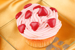 Fancy Valentine's Day cupcake Stock Image