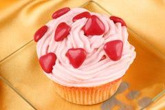 Fancy Valentine's Day cupcake Stock Image
