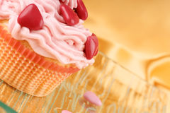 Fancy Valentine's Day cupcake Royalty Free Stock Images