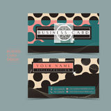 Fancy vector business card set Royalty Free Stock Images