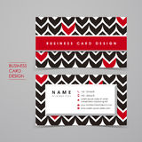 Fancy vector business card set Royalty Free Stock Image
