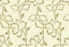 Fancy vector floral wallpaper Stock Photo